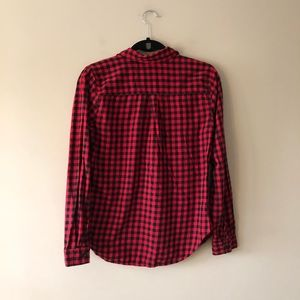 Old Navy Tops - Old Navy red and black checked top